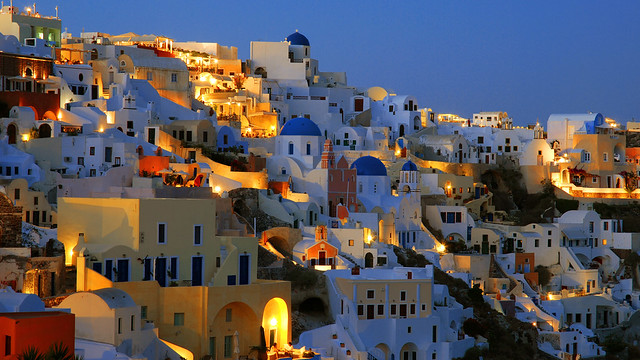 Another summer night falls over Oia