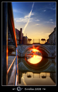 Sunset under a bridge - Mechelen - Belgium :: HDR