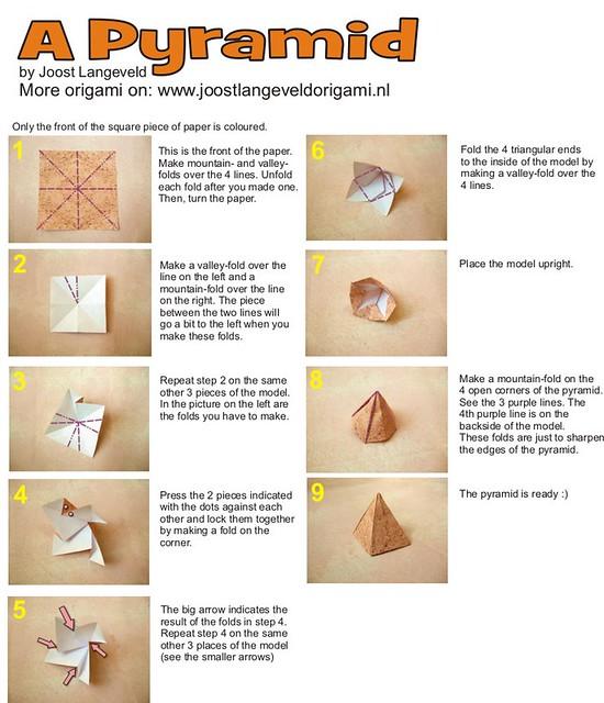 origami pyramid flickr photo sharing