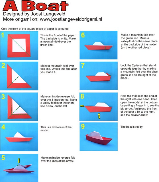 simple instructions to make a paper boat