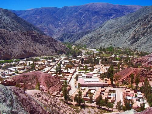 Vista aérea de Purmamarca (Jujuy)