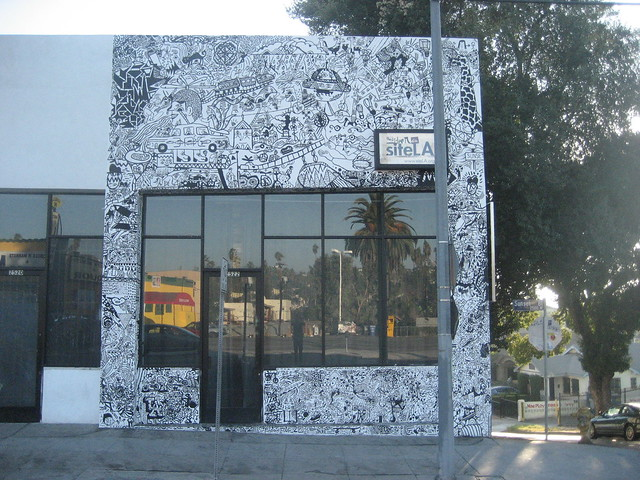 Official official picture of the sumi ink club mural for Club joven mural