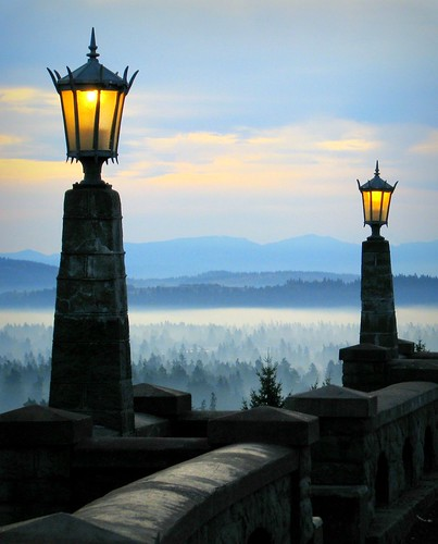 park morning blue winter lamp fog oregon sunrise portland naturesfinest josephwoodhill