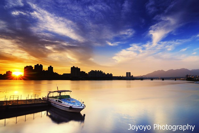 日落大稻埕碼頭(Sunset in Tamsui River)