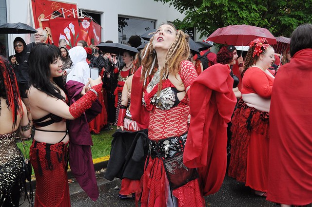 Fremont Solstice Parade 2011 - staging area 01A