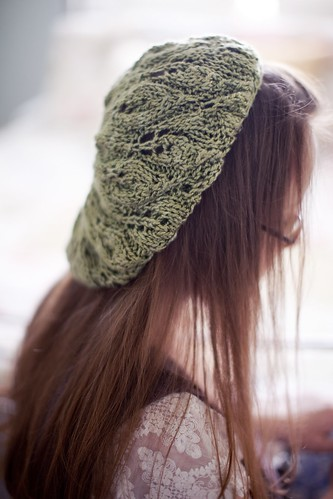 Perennial Top Down Silk Beret