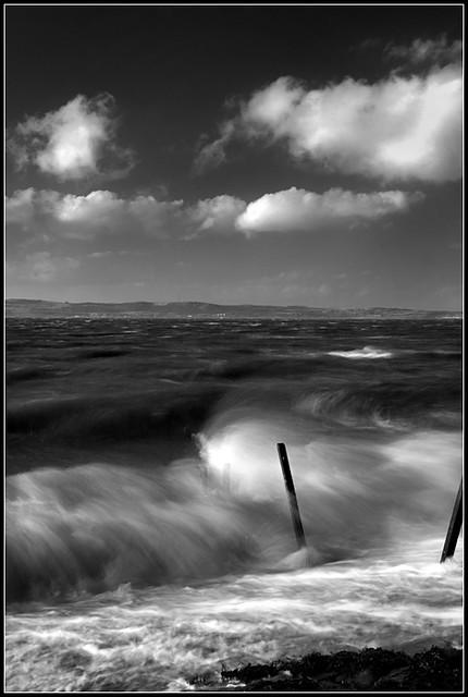 Storms at Sea B&W