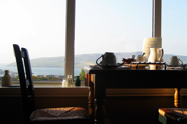 A great view of Dingle from the breakfast room at Lighthouse B&B.