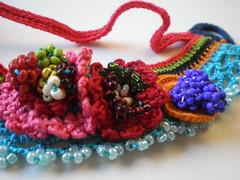 Kitsch - Flowers Freeform Crochet Cuff