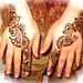 simple henna tops of hands