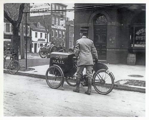 Three-wheeled Mail Collection Motorcycle