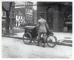 Three-wheeled Mail Collection Motorcycle by Smithsonian Institution