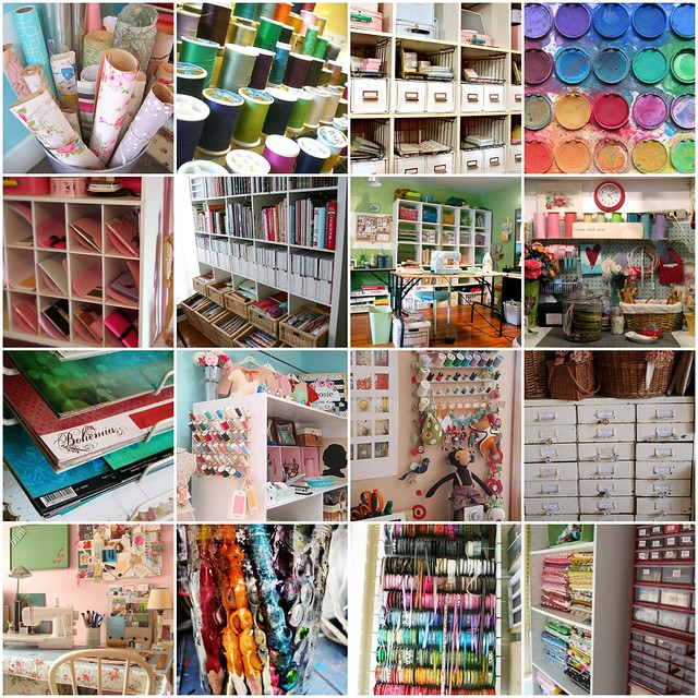 Some of My Favorite Crafting Spaces