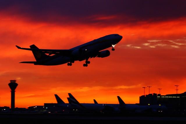 Jet Airways Sunset Take-Off