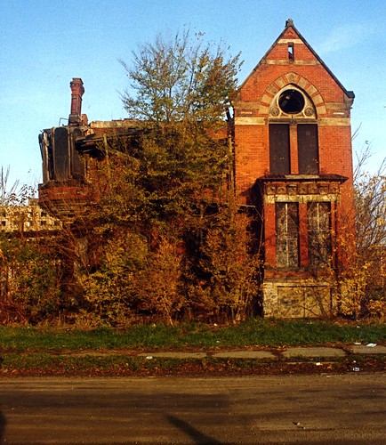 park house brick abandoned ruins decay detroit victorian brush spooky weathered decayed ransom gillis ransomgillis brushparkold