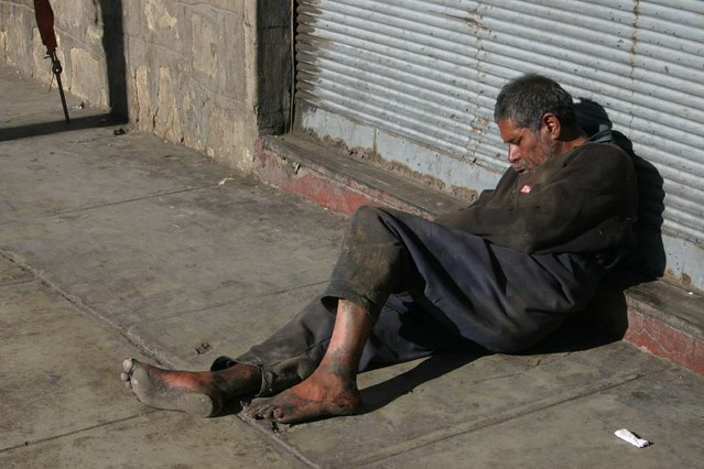 Homeless in Cochabamba, Bolivia.