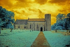 Infrared St Peter's church Merton Norfolk