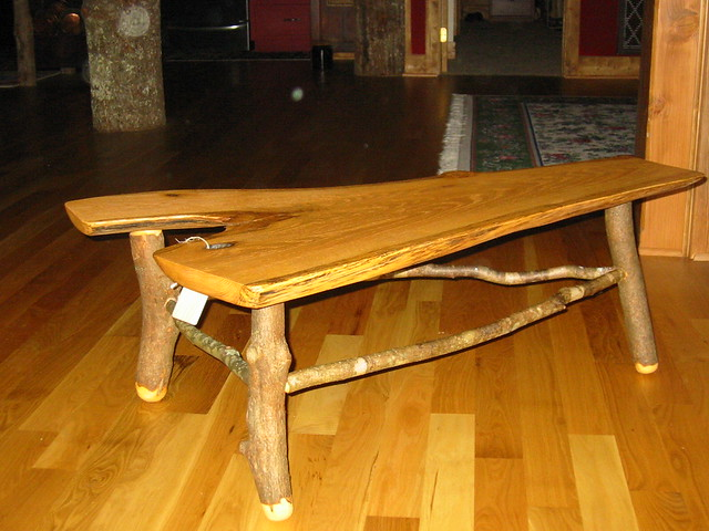 Oak slab quotyquot coffee table flickr photo sharing for Oak slab coffee table