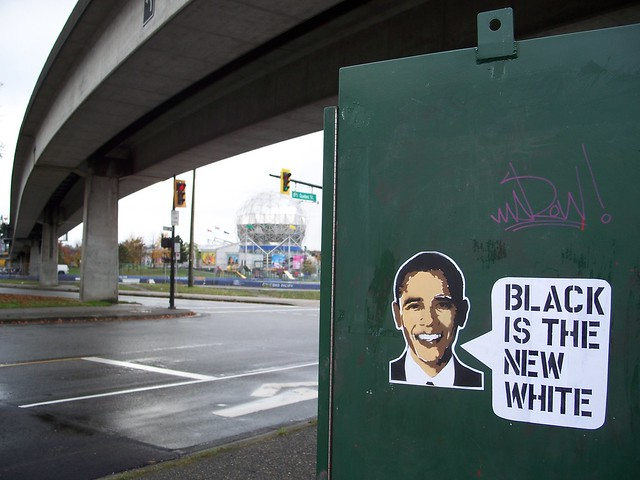 "barack obama says ""black is the new white"""
