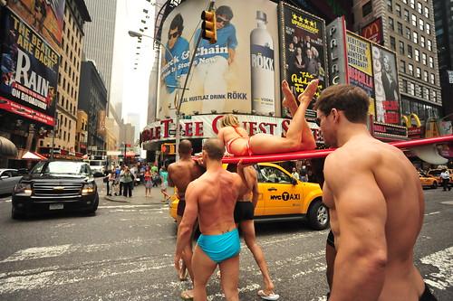 swimsuitmodels SWIMSUIT  PHOTOSHOOT IN TIMES SQUARE   2011     -         Manhattan, New York City     -    05/26/11 bikinis for juniors