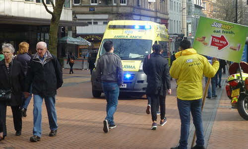 Ambulance_New Street_Birmingham_Mar14
