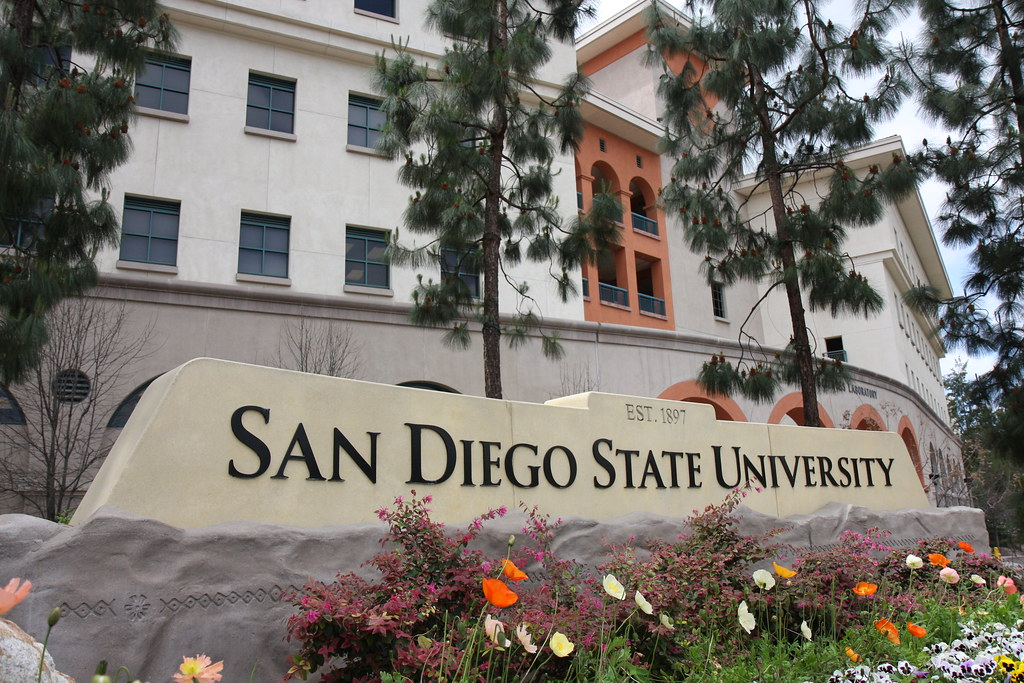 San Diego State University Welcome Sign