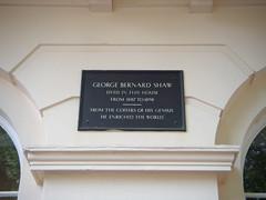 Photo of George Bernard Shaw black plaque