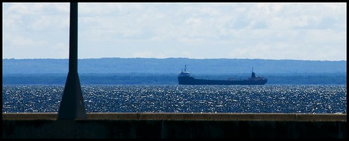 summer seascape water minnesota harbor pier dock waves ship jetty duluth lakesuperior laker freighter