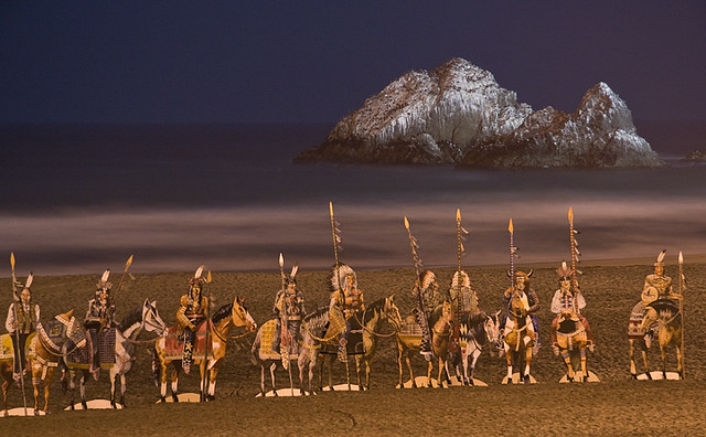 American Indians on the Beach