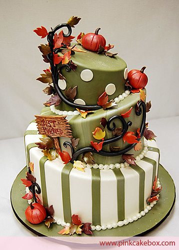 2953339140 for Autumn cake decoration