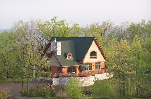 Log Home Floor Plan - The Woodland, 1400 square feet, by B&H Cedar