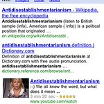 Google voice search - antidisestablishmentarianism