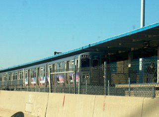 Inbound CTA Blue line train. Chicago Illinois. November 2006. by Eddie from Chicago