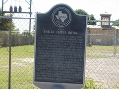 Site of the St. James Hotel, Wichita Falls, Texas Historical Marker