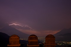 Lightning above Antigua, Guatemala