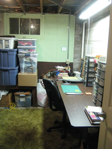 basement craft area and storage flickr photo sharing