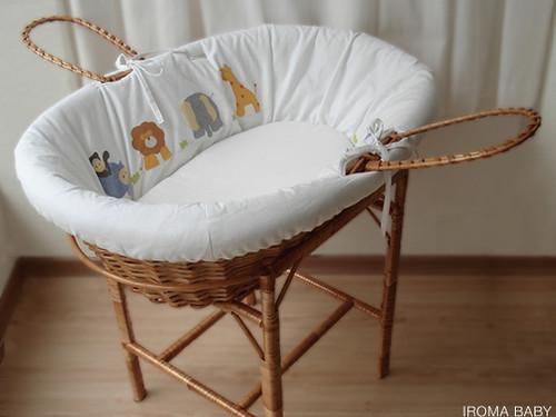 Quarto de bebê Selva (Safari)  Cesto de vime decorado no te