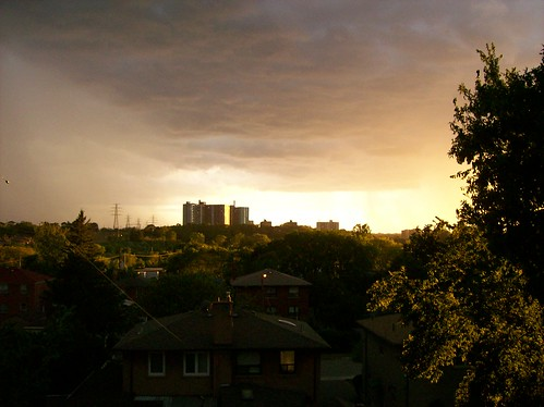 road sunset toronto ontario canada storm clouds sunrise backyard hilldale