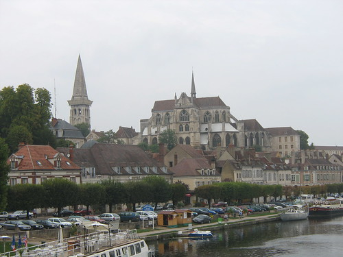 france buildings burgundy cathedrals views auxerre burgogne yonneriver