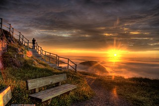 Photographing the sunrise