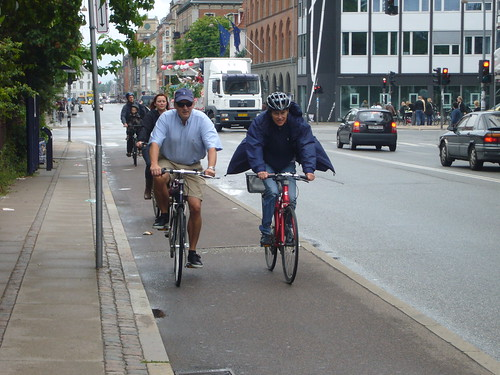 there are bike boulevards all over copenhagen!