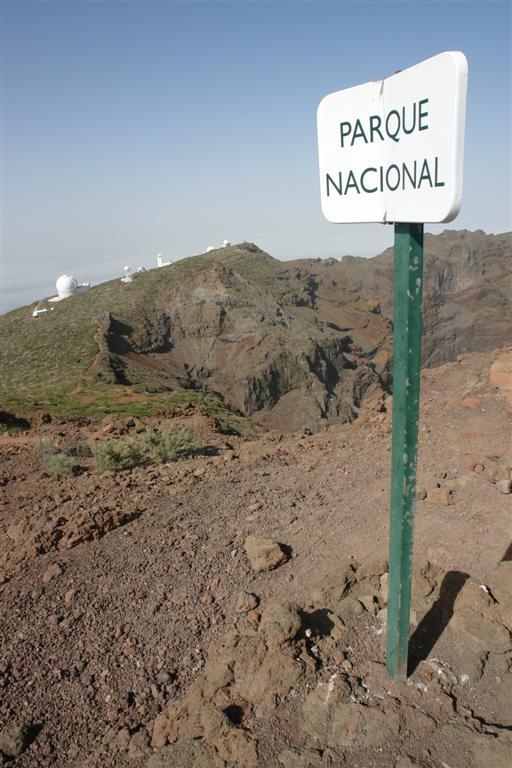 Indicación de que nos encontramos dentro del parque nacional de la Caldera de Taburiente Roque de los Muchachos, donde europa se une con el cielo - 2817134191 17217ca4aa o - Roque de los Muchachos, donde europa se une con el cielo