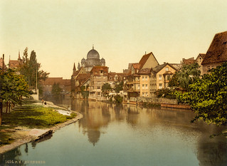Pegnitz & synagogue, Nuremberg, Bavaria, ca. 1895