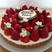 strawberry tart with sugar flowers