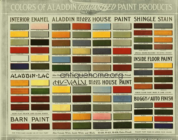 Historic Bungalow Colors Vintage Palette 1910 To 1920 Flickr Photo Sharing