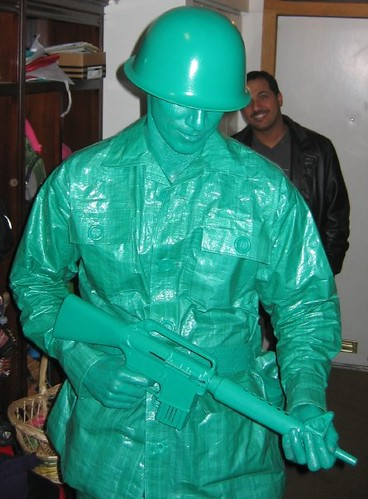 Cool Toy Army Men : Plastic green army man halloween costume