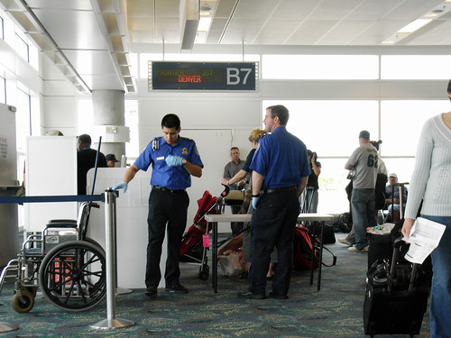 TSA at Gate B9