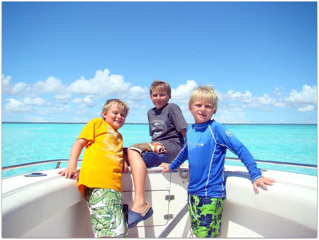 My three sons on a boat | exumabound | Flickr