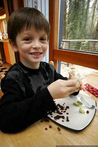 nick enjoying a burrito he prepared himself    MG 3396