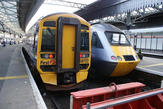 First Scotrail class 158 and Nxec class 43 HST at Aberdeen ...